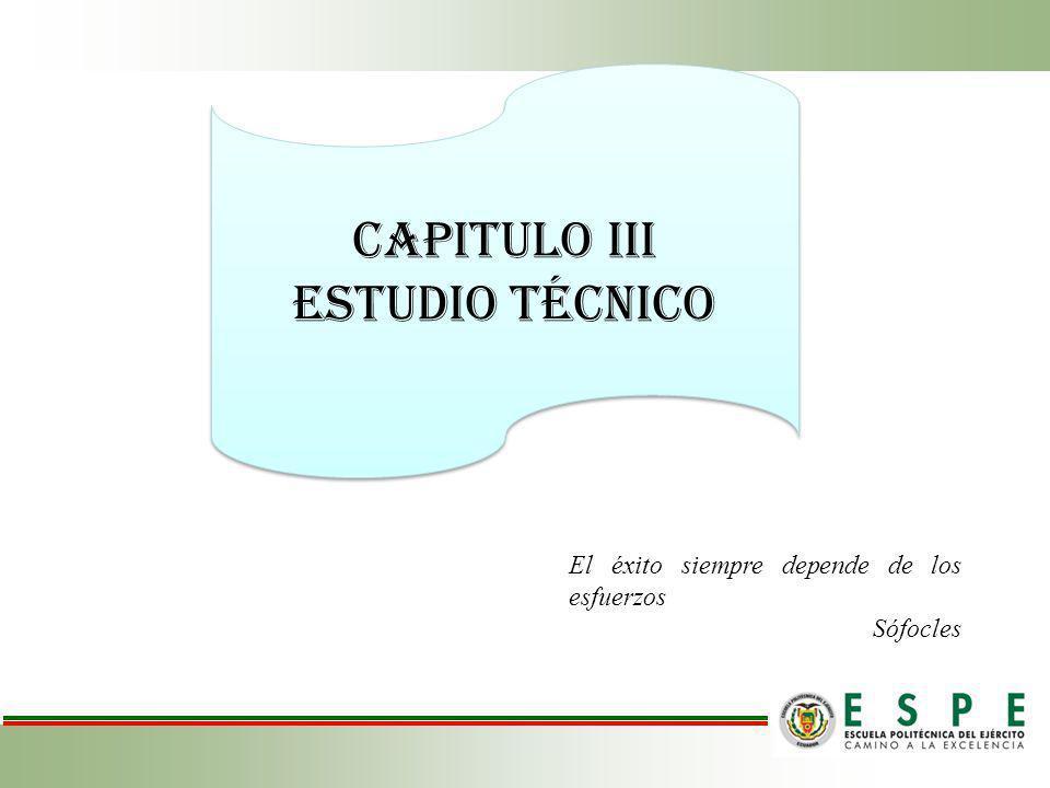 CAPITULO IIi Estudio técnico El éxito siempre depende de los esfuerzos