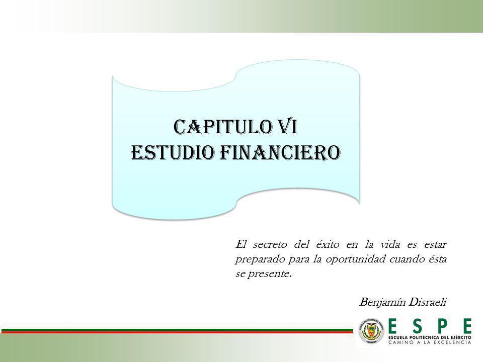 CAPITULO vI Estudio FINANCIERO