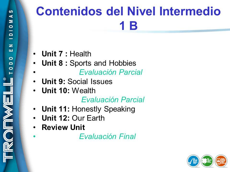 Contenidos del Nivel Intermedio 1 B