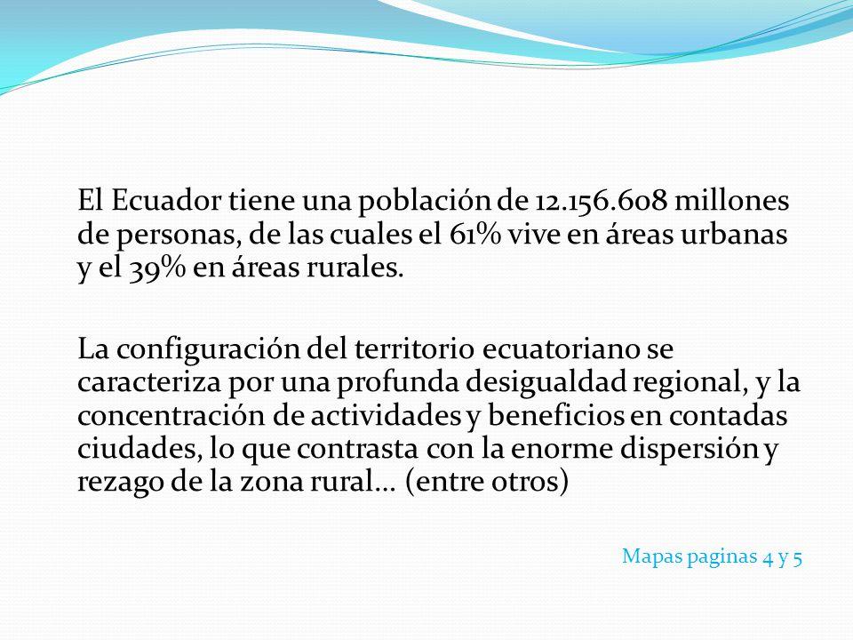 El Ecuador tiene una población de 12. 156