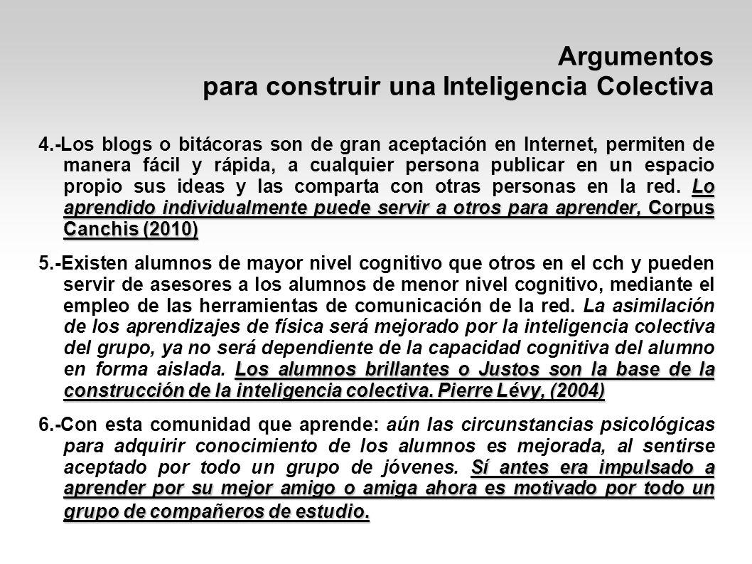 Argumentos para construir una Inteligencia Colectiva