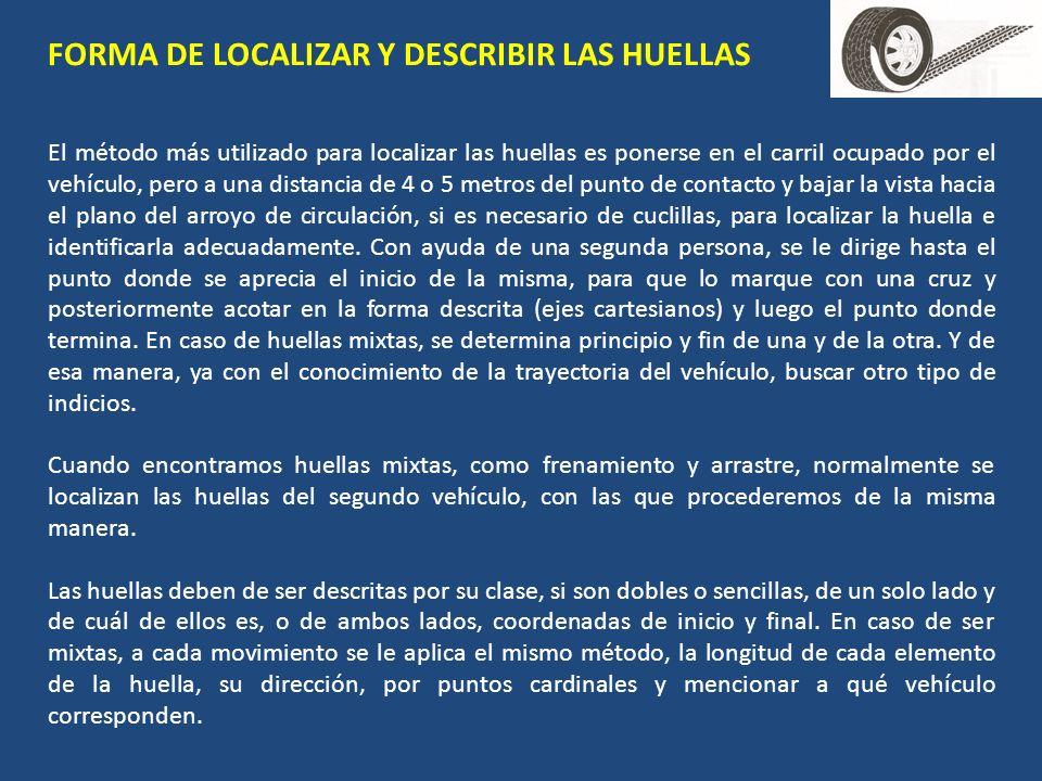 FORMA DE LOCALIZAR Y DESCRIBIR LAS HUELLAS