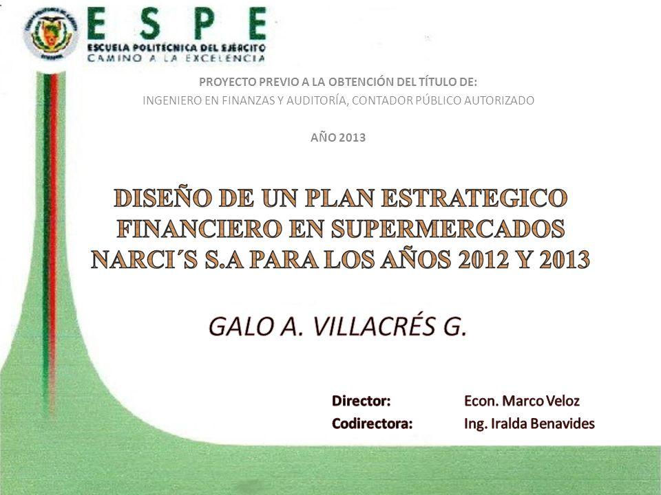 GALO A. VILLACRÉS G. Director: Econ. Marco Veloz