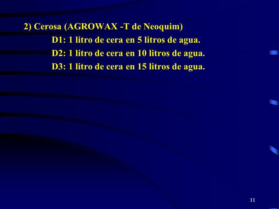 2) Cerosa (AGROWAX -T de Neoquim)