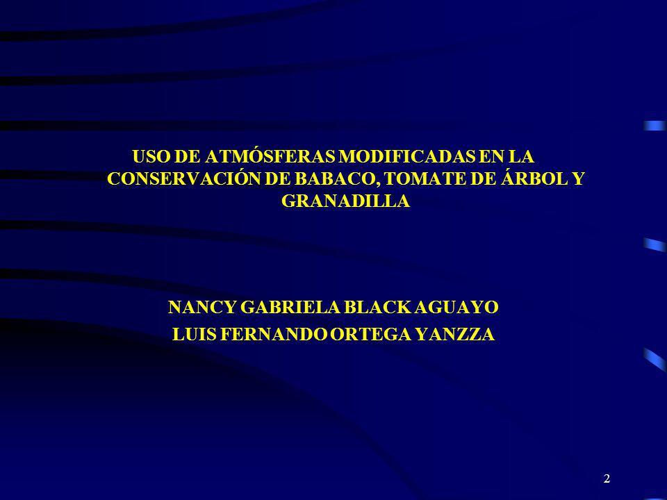 NANCY GABRIELA BLACK AGUAYO LUIS FERNANDO ORTEGA YANZZA