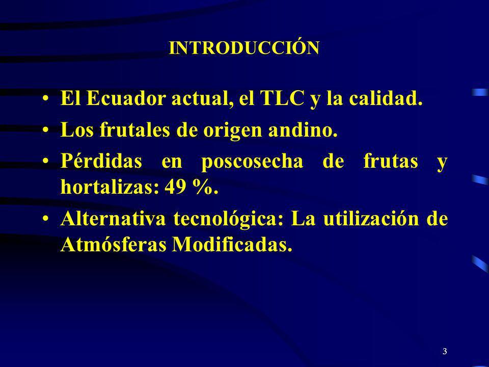 El Ecuador actual, el TLC y la calidad. Los frutales de origen andino.