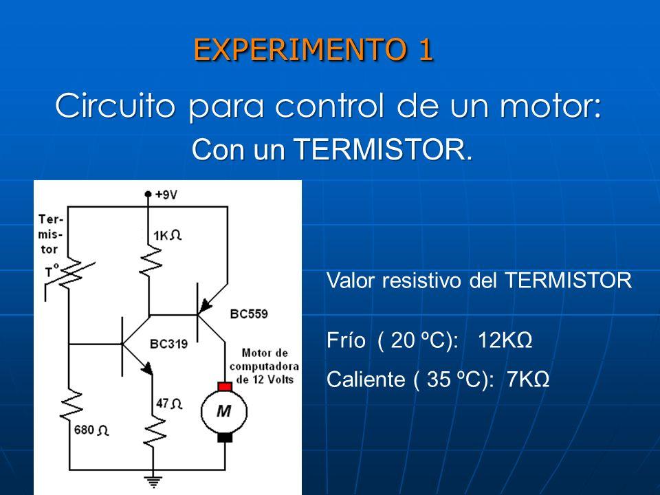 Circuito para control de un motor: