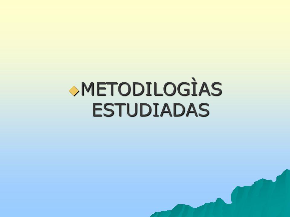 METODILOGÌAS ESTUDIADAS