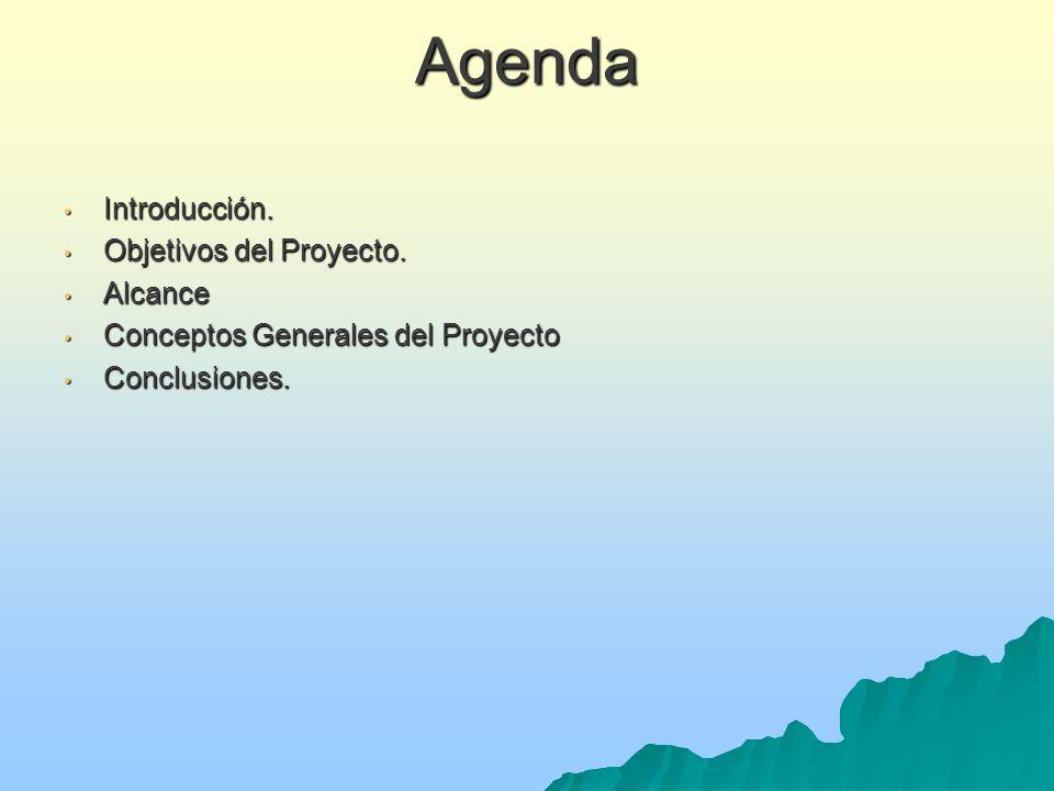 Agenda Introducción. Objetivos del Proyecto. Alcance