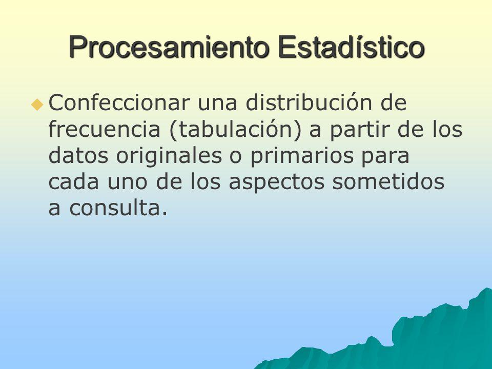 Procesamiento Estadístico