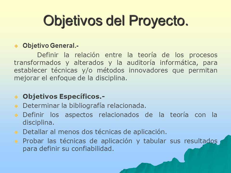 Objetivos del Proyecto.