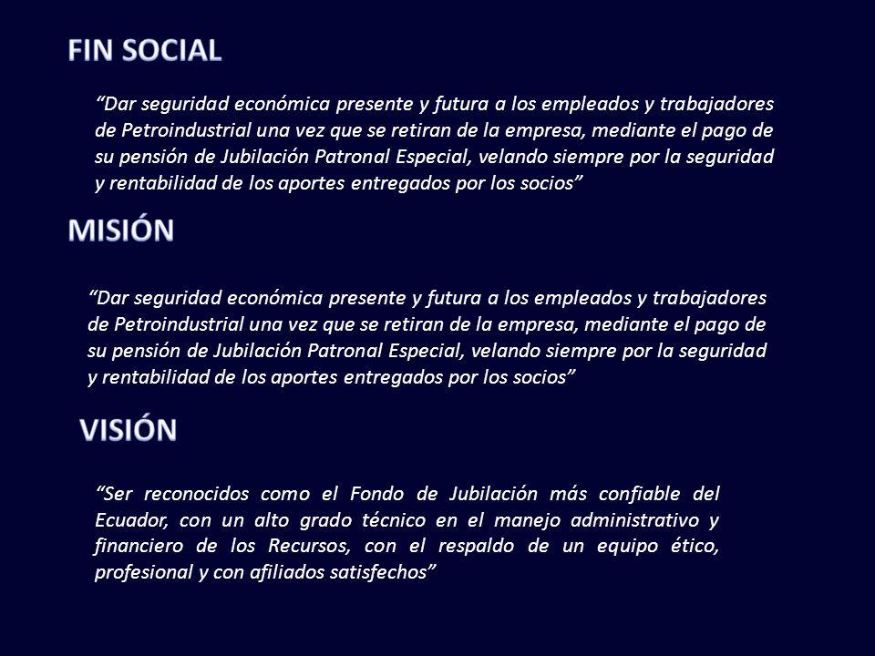 FIN SOCIAL MISIÓN VISIÓN
