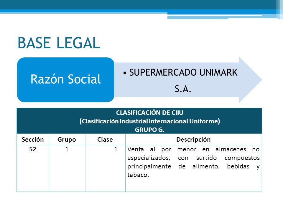 (Clasificación Industrial Internacional Uniforme)