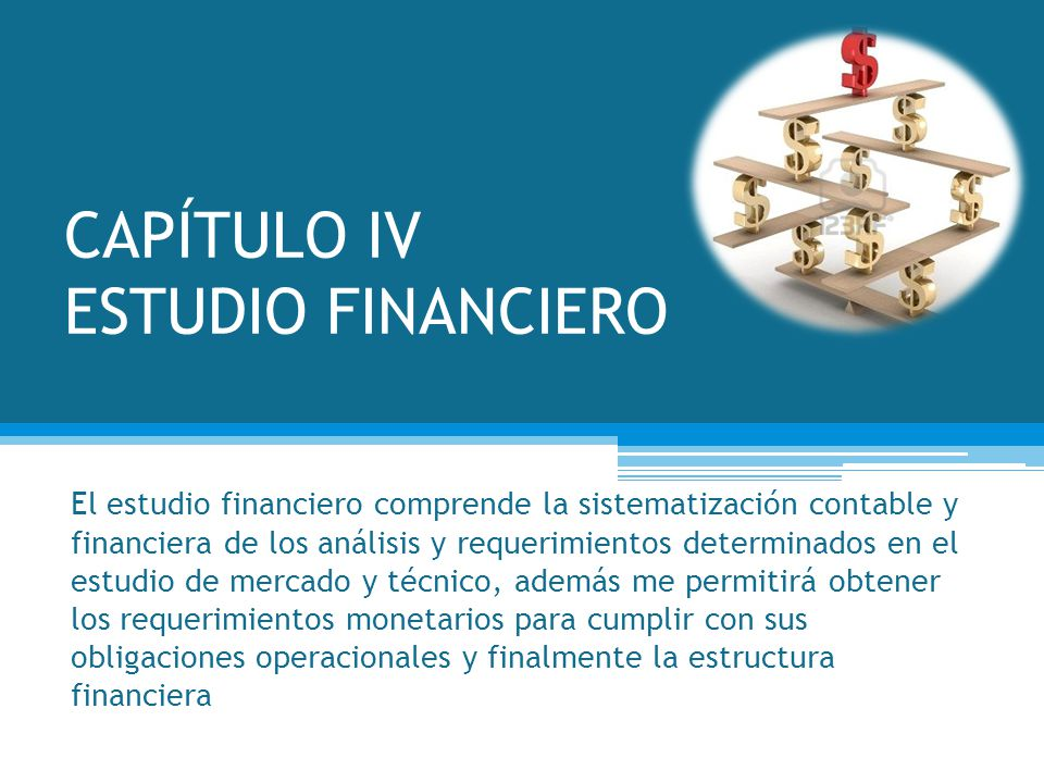CAPÍTULO IV ESTUDIO FINANCIERO