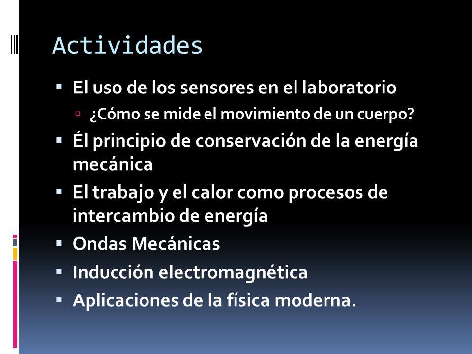 Actividades El uso de los sensores en el laboratorio