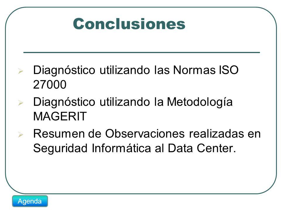 Conclusiones Diagnóstico utilizando las Normas ISO 27000