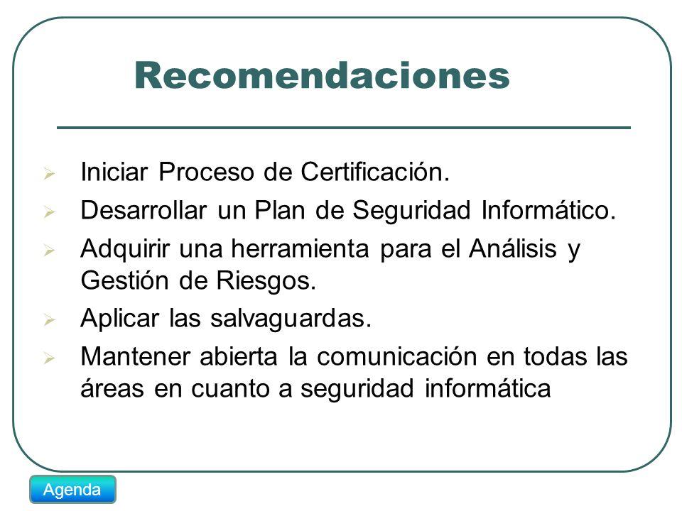 Recomendaciones Iniciar Proceso de Certificación.