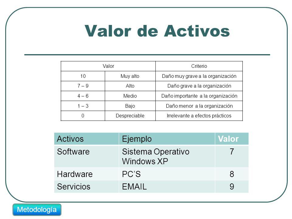 Valor de Activos Activos Ejemplo Valor Software
