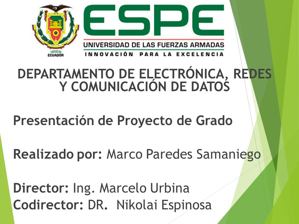 DEPARTAMENTO DE ELECTRÓNICA, REDES Y COMUNICACIÓN DE DATOS