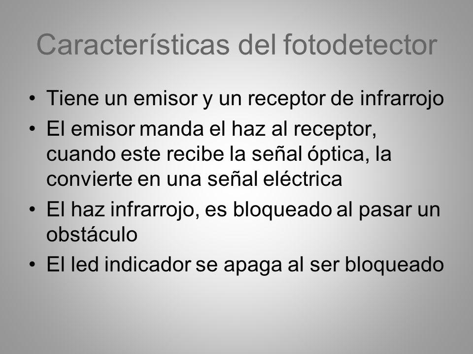 Características del fotodetector