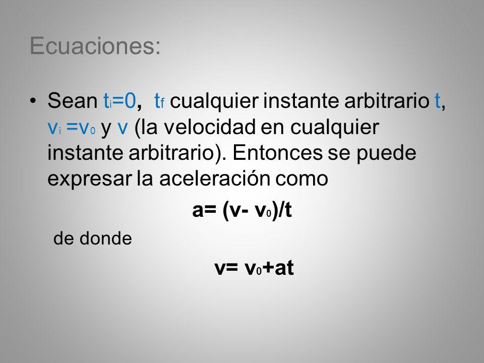 Ecuaciones: