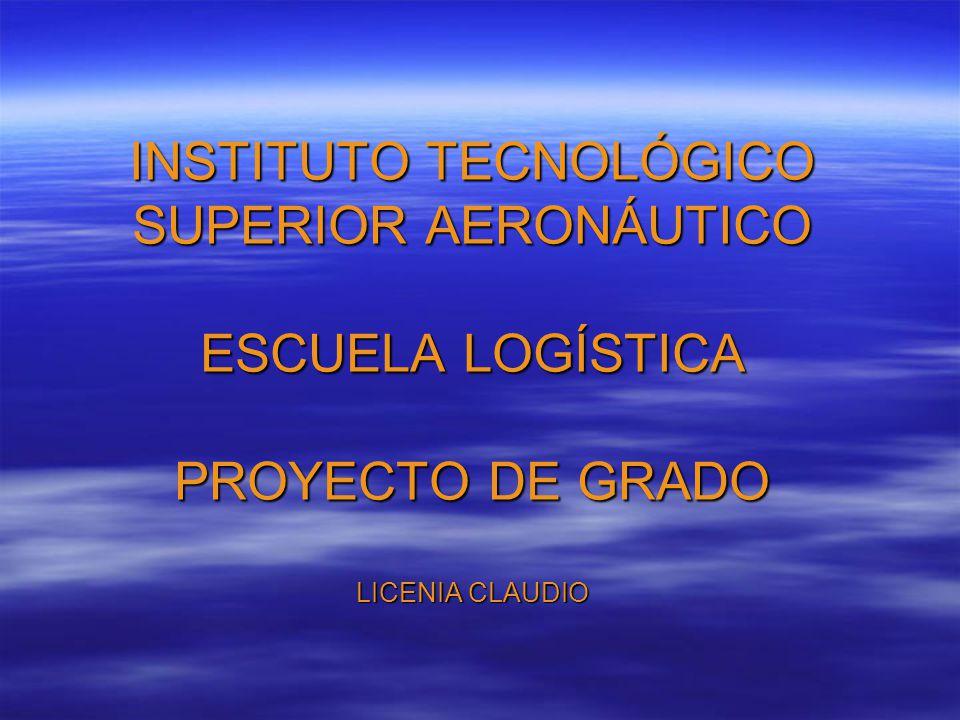 INSTITUTO TECNOLÓGICO SUPERIOR AERONÁUTICO ESCUELA LOGÍSTICA PROYECTO DE GRADO LICENIA CLAUDIO