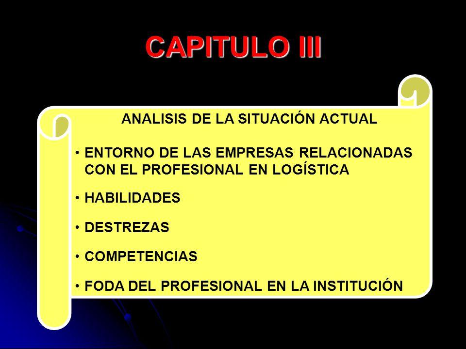 CAPITULO III ENTORNO DE LAS EMPRESAS RELACIONADAS
