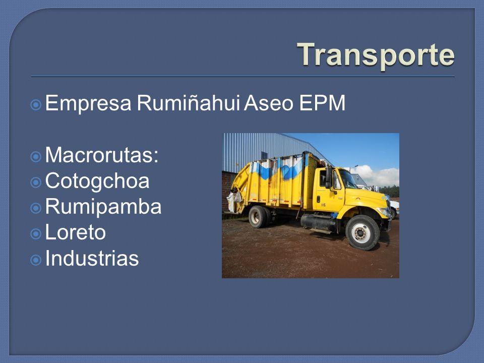Transporte Empresa Rumiñahui Aseo EPM Macrorutas: Cotogchoa Rumipamba