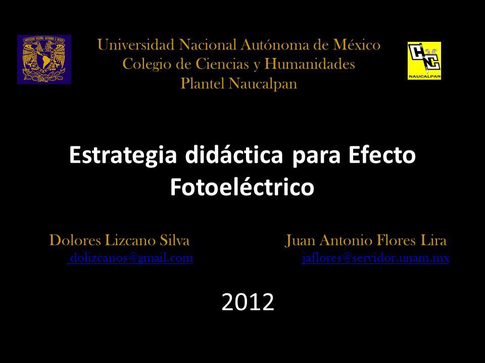 Estrategia didáctica para Efecto Fotoeléctrico