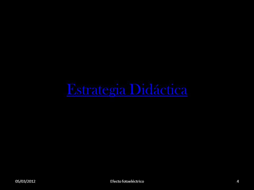 Estrategia Didáctica 05/03/2012 Efecto fotoeléctrico