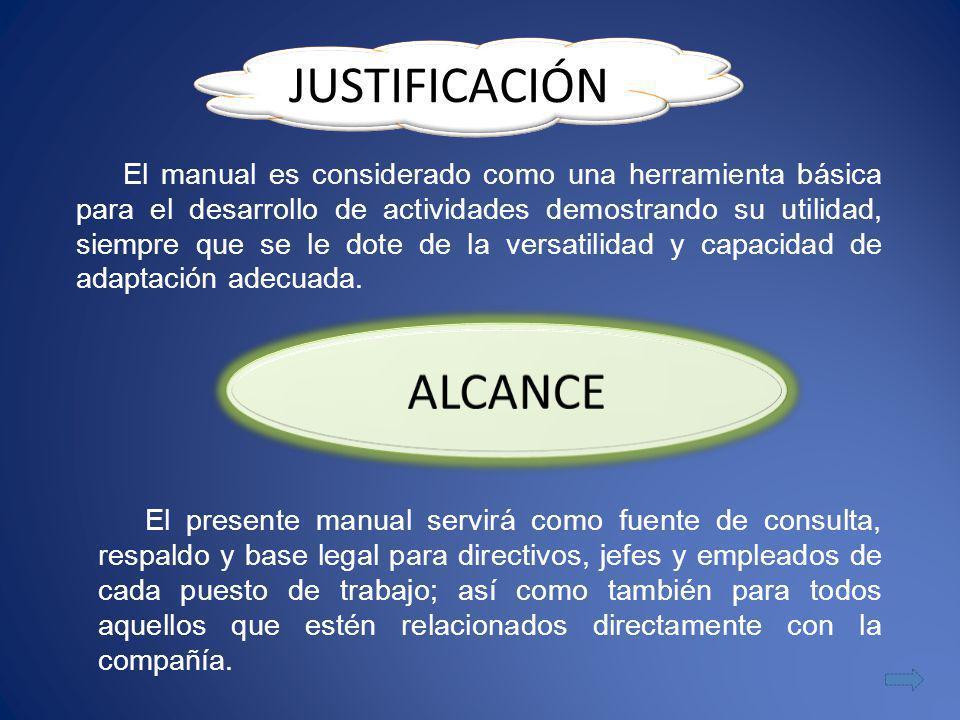 JUSTIFICACIÓN ALCANCE