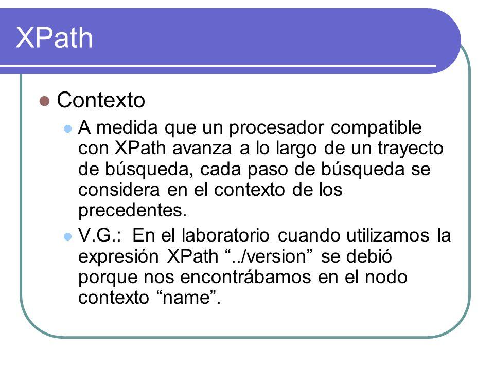 XPath Contexto.