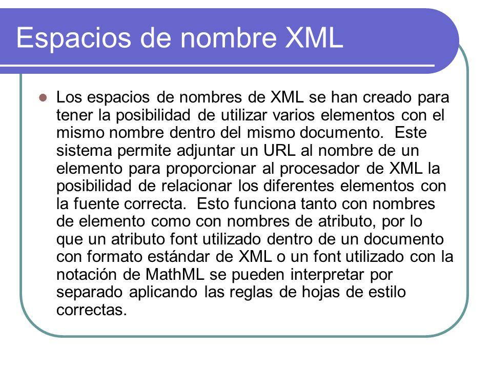 Espacios de nombre XML