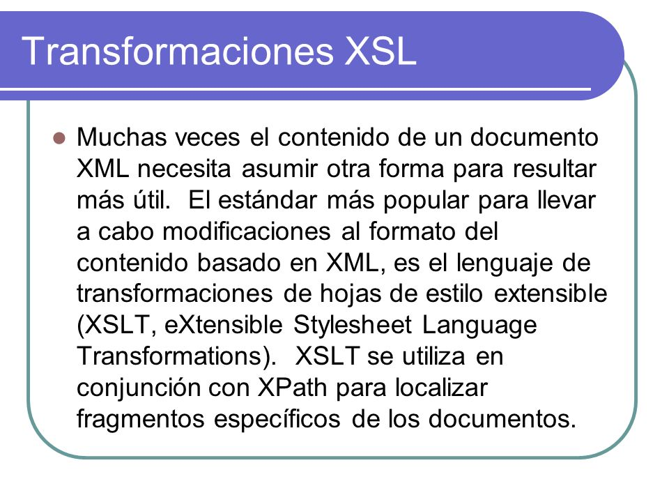 Transformaciones XSL