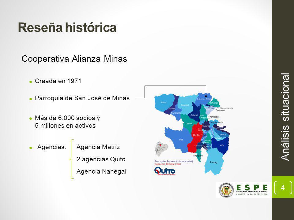 Reseña histórica Análisis situacional Cooperativa Alianza Minas