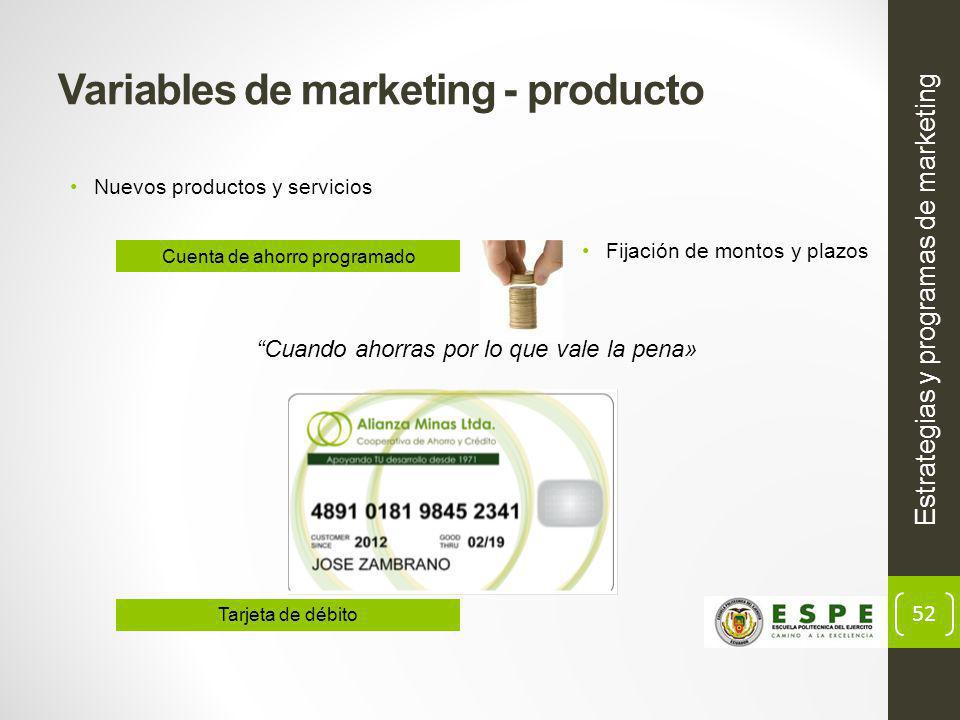 Variables de marketing - producto