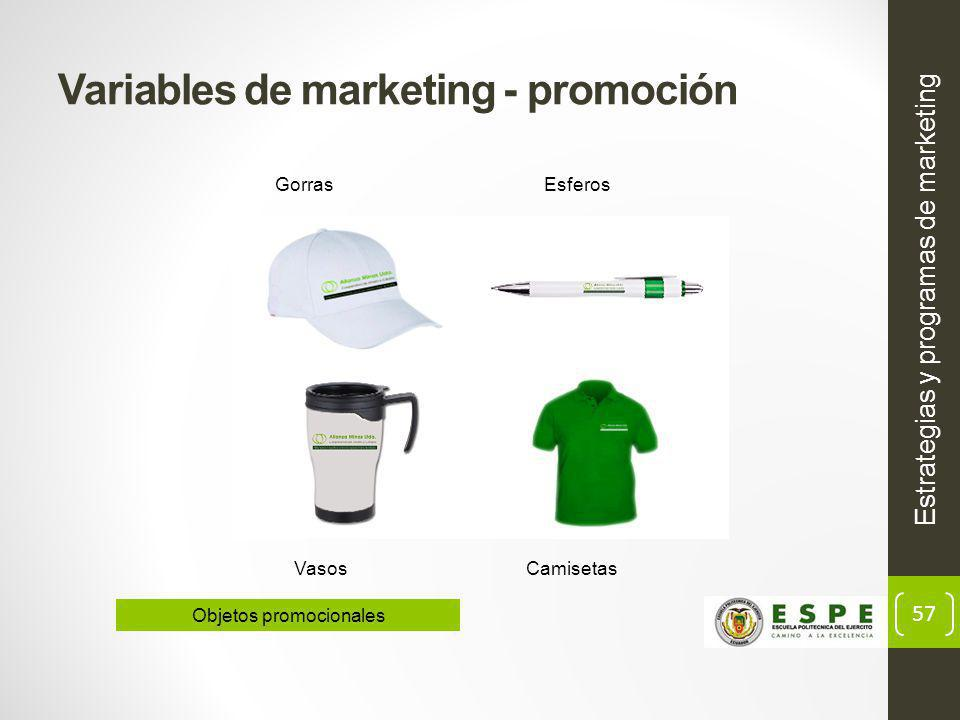 Variables de marketing - promoción
