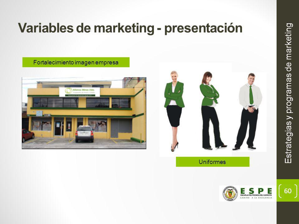 Variables de marketing - presentación
