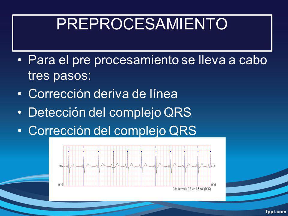 PREPROCESAMIENTO Para el pre procesamiento se lleva a cabo tres pasos: