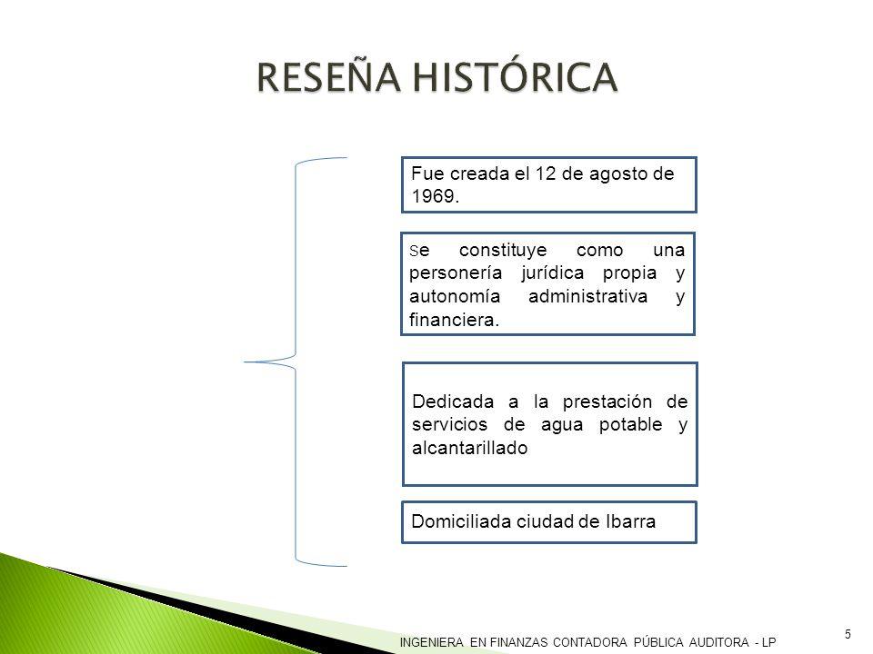 RESEÑA HISTÓRICA Fue creada el 12 de agosto de 1969.