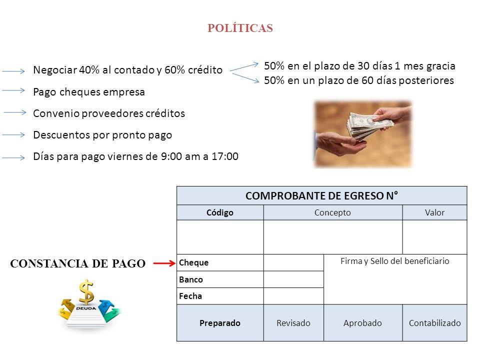 COMPROBANTE DE EGRESO N°