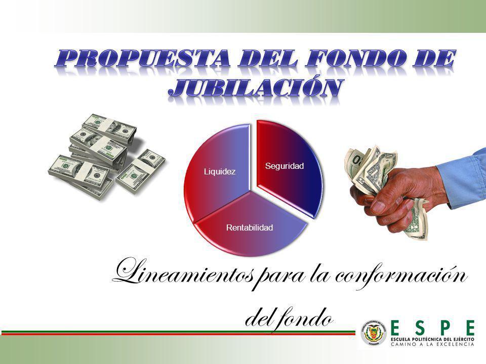 PROPUESTA DEL FONDO DE JUBILACIÓN