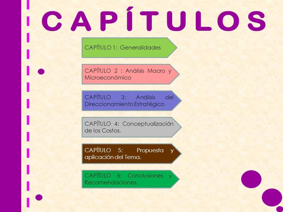 CAPÍTULOS CAPÍTULO 1: Generalidades