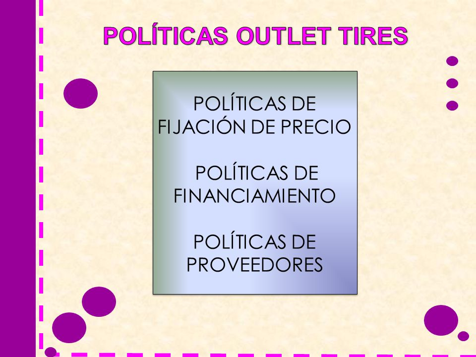 POLÍTICAS OUTLET TIRES