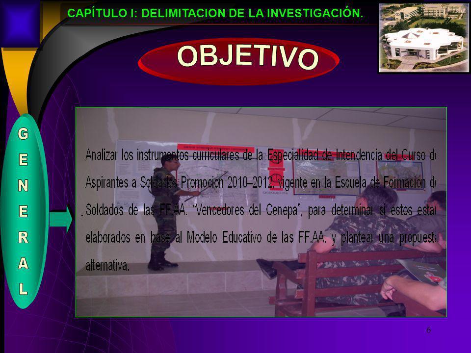 CAPÍTULO I: DELIMITACION DE LA INVESTIGACIÓN.