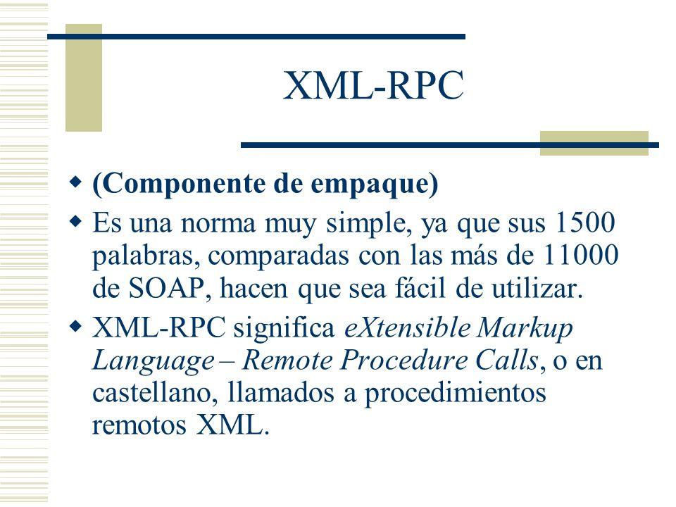 XML-RPC (Componente de empaque)