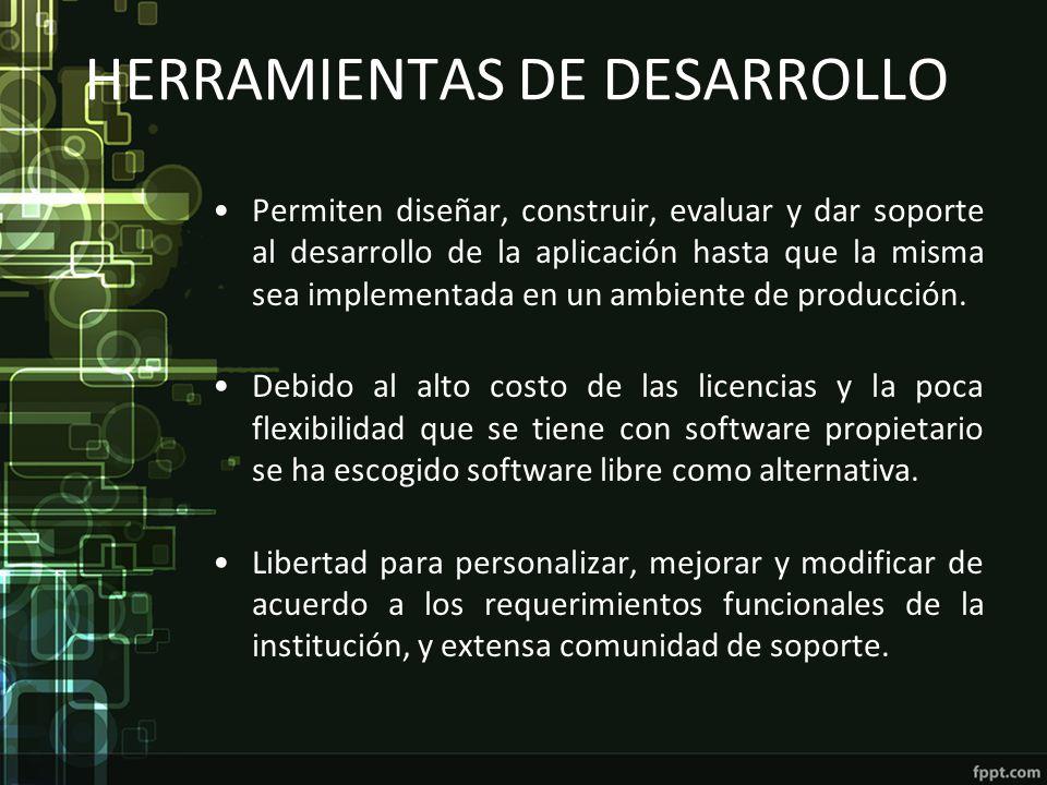 HERRAMIENTAS DE DESARROLLO