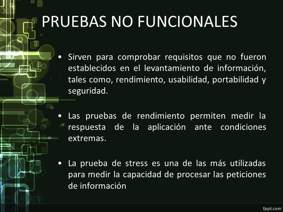 PRUEBAS NO FUNCIONALES