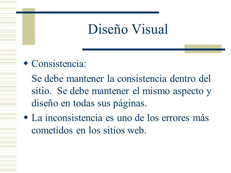 Diseño Visual Consistencia: