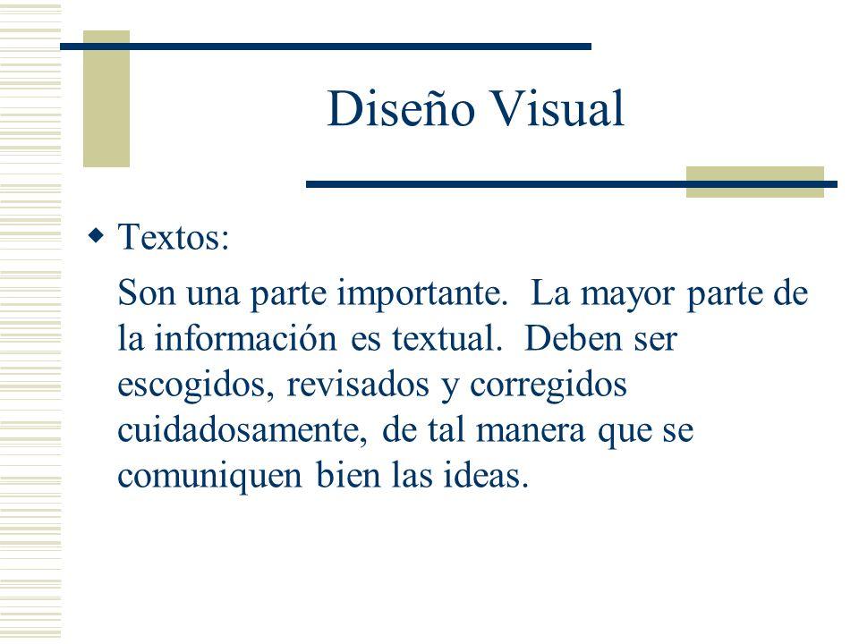 Diseño Visual Textos: